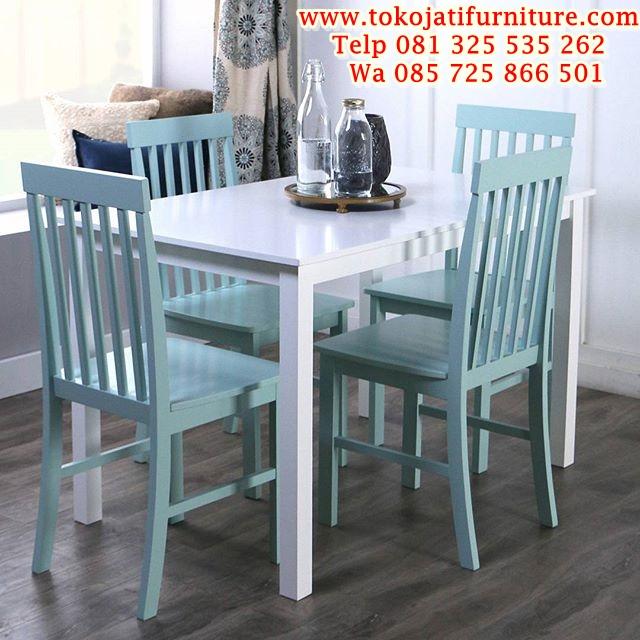 harga-meja-makan-4-kursi-minimalis 1 set meja makan kafe balero