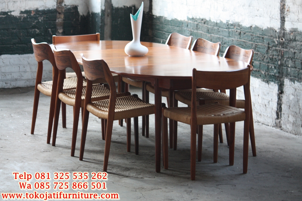 mid-century-modern-dining-table-white-cozy-throughout-danish-remodel-19 kursi makan jati kafe restoran