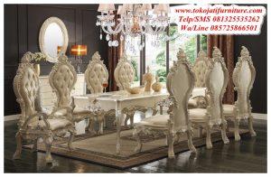 Meja Makan Luxury Ukiran Modern