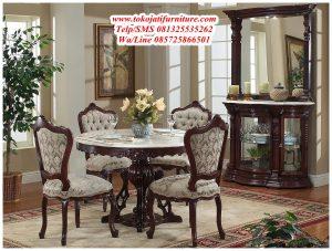 meja makan jati manohara