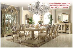 meja makan klasik victorian