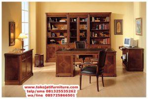 gambar meja kantor jati classic