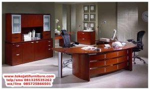 meja kantor jati klasik modern