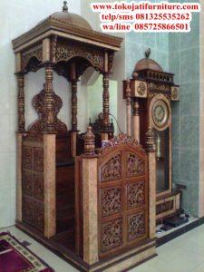 mimbar masjid jati ukiran terbaru