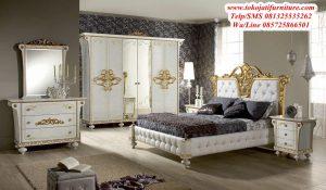 set tempat tidur ukir mewah modern