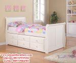 tempat tidur anak bagong laci duco