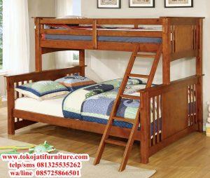 tempat tidur anak tingkat jati