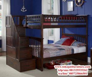 tempat tidur tingkat jati anak