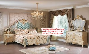 tempat tidur ukiran modern luxury