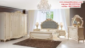 set tempat tidur ukiran modern