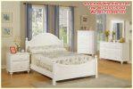 set tempat tidur anak modern duco putih