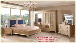 set tempat tidur modern gold classic