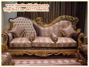model sofa santai ukiran klasik terbaru
