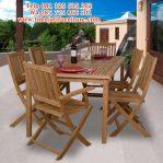 meja makan jati kafe taman