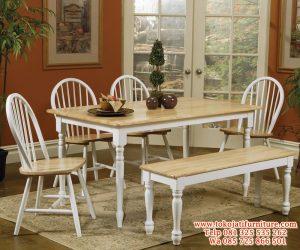 model meja makan kafe duco putih